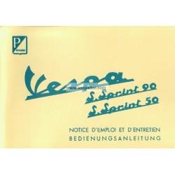 Operation and Maintenance Vespa 50 SS mod. V5SS1T, Vespa 90 SS mod. V9SS1T