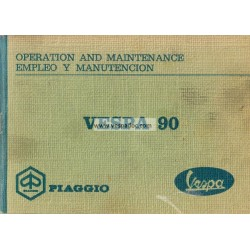 Operation and Maintenance Vespa 90 mod. V9A1T, English, Spanish