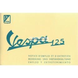 Notice d'emploi et d'entretien Vespa 125 mod. VNA, Vespa 125 mod. VNB