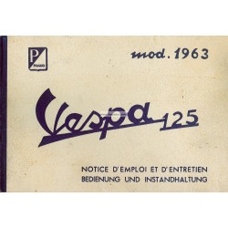 Bedienungsanleitung Vespa 125 GT 1963 mod. VNL1T