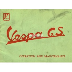Operation and Maintenance Vespa 150 GS mod. VS1T, VS2T, VS3T, VS4T, VS5T, English