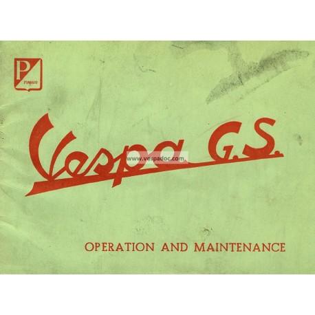 Operation and Maintenance Vespa 150 GS mod. VS1T, VS2T, VS3T, VS4T, VS5T, English