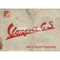 Manuale de Uso e Manutenzione Vespa 150 GS mod. VS2T 1956, Italiano