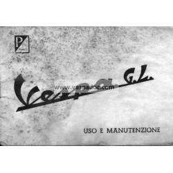 Normas de Uso e Entretenimiento Vespa 150 GL mod. VLA1T 1962, Italiano