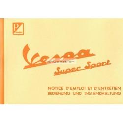 Manuale de Uso e Manutenzione Vespa 180 SS mod. VSC1T