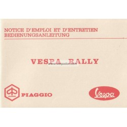 Operation and Maintenance Vespa 180 Rally mod. VSD1T