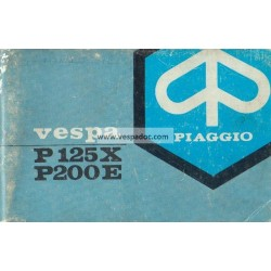 Manuale de Uso e Manutenzione Vespa PX 125 mod. VNX1T, PX 200 E mod. VSX1T