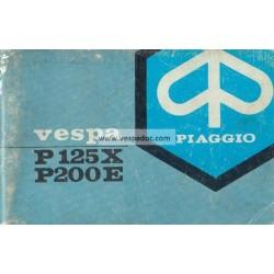 Notice d'emploi et d'entretien Vespa PX 125 mod. VNX1T, PX 200 E mod. VSX1T