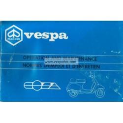 Manuale de Uso e Manutenzione Vespa Cosa 125 VNR1T, Cosa 150 VLR1T, Cosa 200 VSR1T