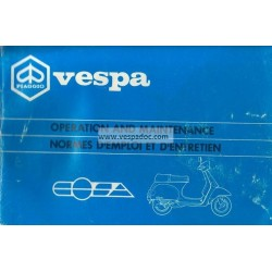 Operation and Maintenance Vespa Cosa 125 VNR1T, Cosa 150 VLR1T, Cosa 200 VSR1T