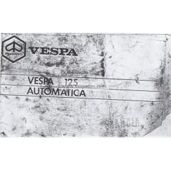 Normas de Uso e Entretenimiento Vespa 125 Automatica mod. VVM2T