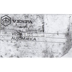 Operation and Maintenance Vespa 125 Automatica mod. VVM2T