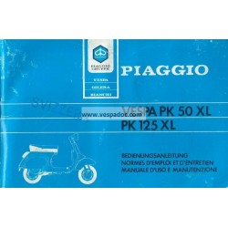 Manuale de Uso e Manutenzione Vespa PK 50 XL  Mod. V5X3T, Vespa PK 125 XL  Mod. VMX6T
