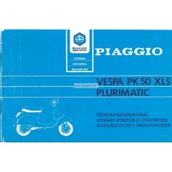 Operation and Maintenance Vespa PK 50 XLS mod. VAS1T