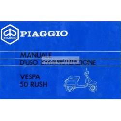 Operation and Maintenance Vespa PK 50 XL RUSH mod. V5X4T, Italian