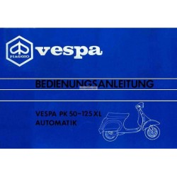 Manuale de Uso e Manutenzione Vespa PK 50 Automatik mod. VA52T, PK 125 XL Automatik mod. VVM1T, Tedesco