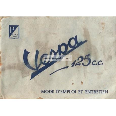 Manuale de Uso e Manutenzione Scooter Vespa Faro Basso, mod. V30, V33