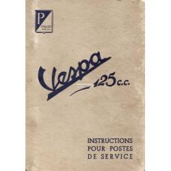 Manuale per Stazioni di Servizio Scooter Vespa 125 Faro Basso
