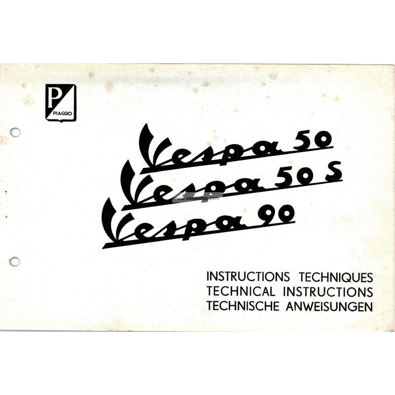 Technical Instructions Vespa 50 Mod V5a1t Vespa 50 S Mod V5sa1t