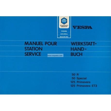 Workshop Manual Scooter Vespa 50 R, Vespa 50 Special, Vespa 125 Primavera, Vespa 125 Primavera ET3