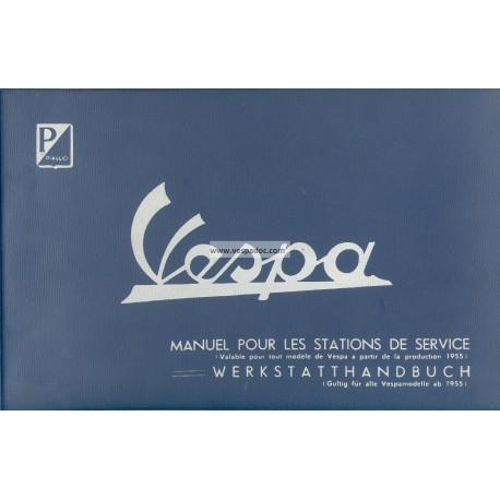 Manuale per Stazioni di Servizio Scooter Vespa 1955 - 1963