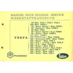 Manuale per Stazioni di Servizio Scooter Vespa 1963 - 1972