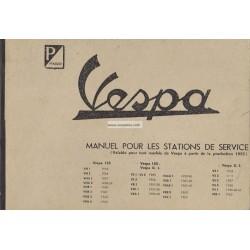 Werkstatthandbuch Scooter Vespa 1955 - 1963, Französisch