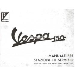 Manuale per Stazioni di Servizio Scooter Vespa 150 mod. VBA, Italiano