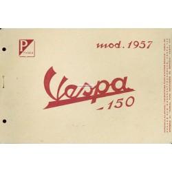 Werkstatthandbuch Scooter Vespa 150 de 1957 mod. VB1T