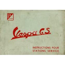 Manuale per Stazioni di Servizio Scooter Vespa 150 GS mod. VS1T, VS2T, VS3T