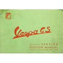 Manuale per Stazioni di Servizio Scooter Vespa 150 GS, mod. VS2T, VS3T, Inglese