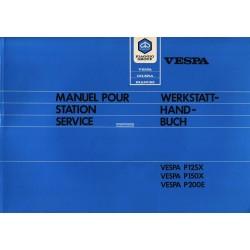 Werkstatthandbuch Scooter Vespa PX 125 VNX1T, PX 150 VLX1T, PX 200 VSX1T