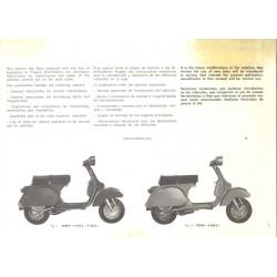Manuale per Stazioni di Servizio Scooter Vespa PX 125 VNX1T, PX 150 VLX1T, PX 200 VSX1T, Inglese, Spagnolo