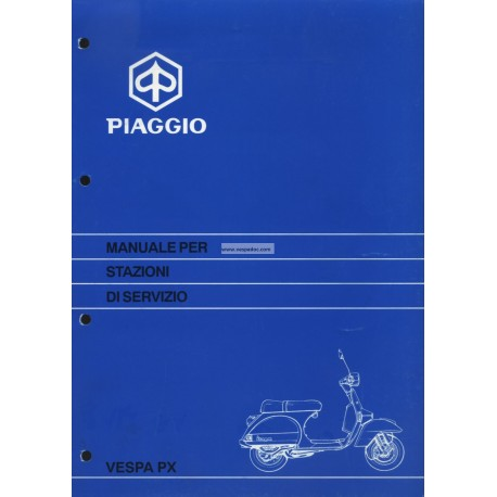 Workshop Manual Scooter Vespa PX Disc Brake 1997,Italian
