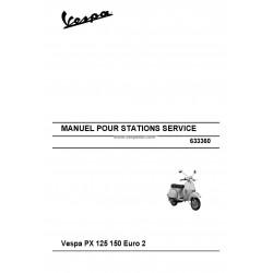 Manuale per Stazioni di Servizio Scooter Vespa PX 125, PX 150, Euro 2