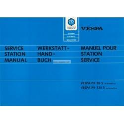 Workshop Manual Scooter Vespa PK Automatica, Vespa PK 80 S mod. VA81T, Vespa PK 125 S mod. VAM1T