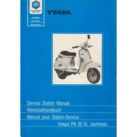 Manuel Technique Scooter Vespa PK 50 XL Plurimatic mod. VA52T