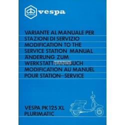 Manuel Technique Scooter Vespa PK 125 XL Plurimatic mod. VVM1T