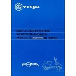 Manuale per Stazioni di Servizio Scooter Vespa Cosa 125 mod. VNR1T, Vespa Cosa 150 mod. VLR1T, Vespa Cosa 200 mod. VSR1T