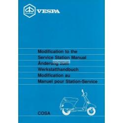 Workshop Manual Scooter Vespa Cosa 125 mod. VNR2T, Vespa Cosa 150 mod. VLR2T, Vespa Cosa 200 mod. VSR1T