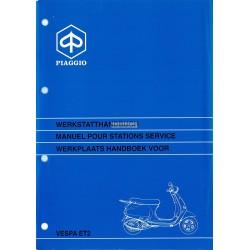 Manuale per Stazioni di Servizio Scooter Vespa ET2, mod. Zapc 1600