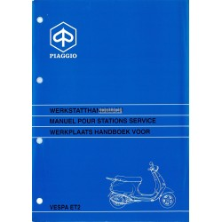Workshop Manual Scooter Vespa ET2, mod. Zapc 1600