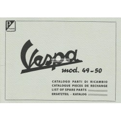 Catalogue of Spare Parts Scooter Vespa 125 V1T, V2T, V14T, V15T mod. 1949 - 1950