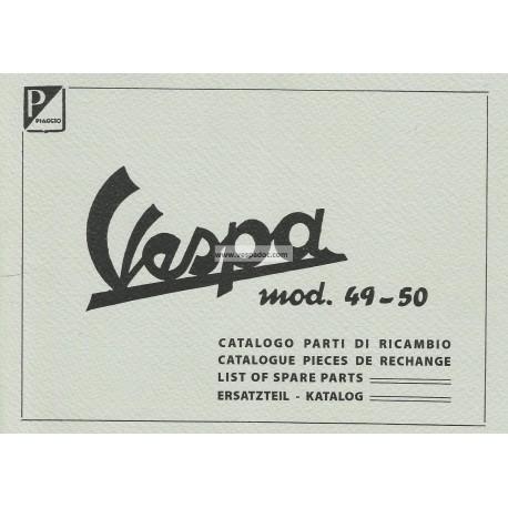 Catalogue of Spare Parts Scooter Vespa 125 V1T, V2T, V14T, V15T mod. 1949 - 1950
