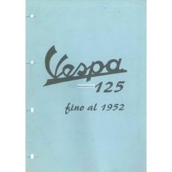 Catalogo delle parti di ricambio ScooterVespa 125 V33T mod. 1952