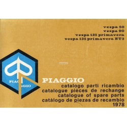 Catalogo de piezas de repuesto Scooter Vespa 50, 50 S, 50 Special, 90, 125 Primavera, 125 Primavera ET3, 1978