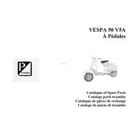 Catalogue de pièces détachées Scooter Vespa 50 à pédales mod. V5A1T, 1970