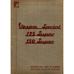 Catalogo delle parti di ricambio Scooter Vespa 150 Sprint VLB1T, 125 Super VNC1T, 150 Super VBC1T, Francese, Italiano