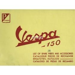 Catalogo delle parti di ricambio Scooter Vespa 150 VL3T, 1956