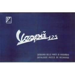 Catalogue de pièces détachées Scooter Vespa 125 mod. 1955 - 1963